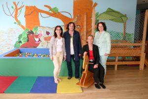 Besuch mit Angelika Weikert in der Kita von Zak
